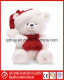 Ours en peluche blanc moelleux jouet pour le jour de Noël