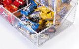 De op de markt brengende Bak van het Suikergoed van de Automaat van de Opslag van het Voedsel van Houders Acryl