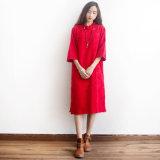 Vestido diario bordado 100% del desgaste de la Ji-Pao del algodón de China para la mujer en resorte