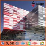4mm 0.4mm Stärken-mehrfache kalte Serien-Farben-dekoratives Panel-Aluminium