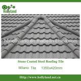 Telha de telhado revestida de pedra do metal (telha de Milão)