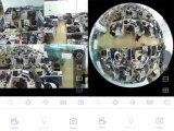 Cámaras de seguridad elegantes del CCTV del hogar del IP de WiFi de 360 grados para la casa