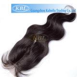 Chiusura brasiliana del merletto dei capelli della chiusura bassa di seta libera della parte di modo della parte 3part dei capelli di Kabielu