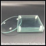 onderlegger voor glazen van het Glas van 100mm de Ronde Duidelijke Aangemaakte