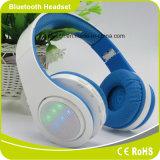 DEL allumant l'écouteur portatif pliable de Smartphone Bluetooth de musique de mode basse stéréo de pouvoir