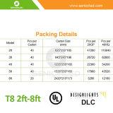 Certifié UL DLC 4FT 18W à LED feux de tube T8