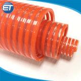 대직경 유연한 PVC 나선에 의하여 강화되는 진공 흡입관 호스