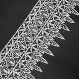 11.5cmのかぎ針編みの衣服のアクセサリのためのオフホワイトの刺繍のレースのトリム