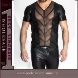 Novíssimo Grosso homens sexy Lingerie de couro de PVC transparente (TXX6721)