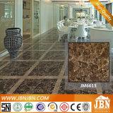 Color marrón oscuro Emplerado mosaico de suelos de porcelana pulida (JM6613)