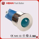 Spia blu di RoHS IP65 12mm 12volt LED del Ce