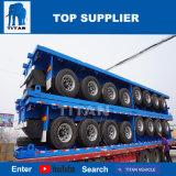 Het Voertuig van de titaan 40FT Flatbed met de Semi Aanhangwagen van de Zijgevel voor Verkoop