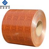 Bobina di alluminio ricoperta colore di legno di prezzi di costo del grano per la parete del rivestimento e del tetto