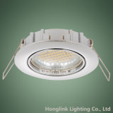 Montage enfoncé par inclinaison en aluminium coulé sous pression par nickel DEL Downlight de plafonnier de satin