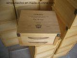 6 бутылок сосны деревянная подарочная упаковка деревянные упаковки с индивидуального логотипа