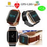 Idosos Rastreador GPS Sos assistir com a monitorização da freqüência cardíaca Y16
