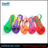 Симпатичные цветные дешевые выдувания воздуха желе Bowknot Шлепанцы тапочки для девочек Детские детей