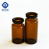 Het Flesje van het glas met Farmaceutische RubberKurk en Sluiting en GLB
