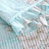 Coverlet sottile della base del re Size Print Bedspreads Quilted coreana di Syle