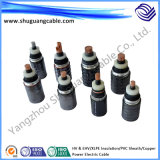 High Voltage 110kv XLPE Insulation PVC Sheath Electric Power Cable