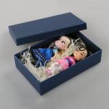 Коробка упаковки подарка инвентаря крышки золота бумажная (QY150218)