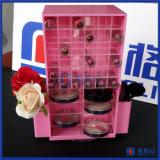 口紅およびコンパクトなコンパートメントを持つアクリルの装飾的な構成のオルガナイザー