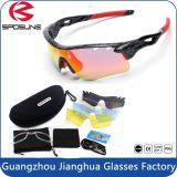 Marco exterior promocional Bicicleta Personalizadas Len multicolor TR90 material Ciclismo Conducción voleibol gafas de sol