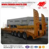 Reboque hidráulico do caminhão da base de quatro eixos baixo