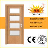 Роскошный интерьер твердых MDF со стеклянной двери из ПВХ (SC-P164)