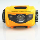 3 * AAA Lr03 Batterie Plastique 3 LED Hot Sale Headlamp