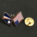 カスタマイズされる真鍮の国旗ピン