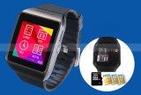 1.50inchシリコーンのタッチ画面のBluetoothの最もよく安い腕時計のSIMのカードのカメラ機能の移動式携帯電話のスマートな防水人間の特徴をもつ腕時計の電話