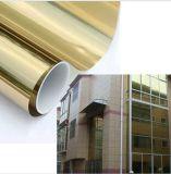 Reflektierendes Einweganblick-Gebäude-Fenster abgetönter goldener Glasfilm