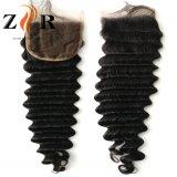 Chiusura diritta di Weavy/riccia capelli di estensione del merletto