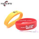 De Geweven Armband van het Silicium RFID van het Kaartje van de gebeurtenis Manchet voor Toegangsbeheer