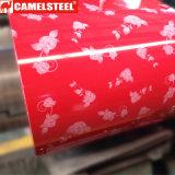 PPGI prépeint/PPGL Gaufré en acier revêtu de couleur pour la bobine de tôle de toit