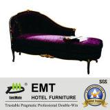 Canapé en bois massif Canapé-lit pour chambre à coucher (EMT-LC17)