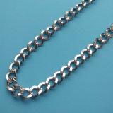 Catena all'ingrosso dell'argento del metallo della collana di figura di onda