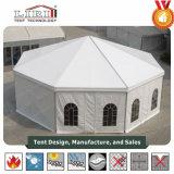 Multi-Seiten rundes Festzelt-Zelt mit wasserdichten Dach-und Glas-Seitenwänden