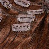 """16 """" 18 """" 20 """" 22 """" 24 """" 26 """" Klipps des gerades Haar maschinell hergestellte Remy Haar-8PCS/Set Farben-geraden Haar im Menschenhaar-Extensions-volle Kopf-gesetzte Kastaniebrown-(8#)"""