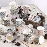 12oz comerciano la tazza all'ingrosso di ceramica con la decalcomania