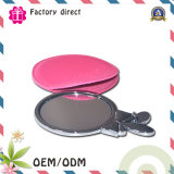 2016 New Style Durable Portable Leather Fold Cosmetic Makeup Pocket Mirror