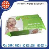 Wipes de bambu do bebê de Biodegradeble da tela