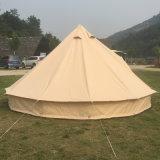 Tende di Bell di lusso della tela di canapa del cotone di Glamping 5m, 6m, 7m con la stufa e tenda