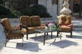 Spätestes elegantes Garten-Möbel-Gussaluminium-Schwätzchen-Gruppen-Set