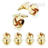VAGULAの宝石類の金の結び目のタキシードカラースタッド6PCSの一定のカフスボタン