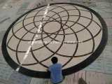 別荘またはホテルのロビーの床のプロジェクトのための中国のWater-Jet大理石のタイル