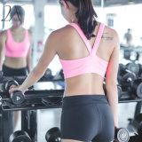 """Спортивного бюстгальтера для спортивных занятий йогой твердых оберните ремешок для защиты грудной клетки"""""""