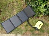 La casella esterna portatile del sistema di illuminazione dell'UPS della casa del rifornimento di energia solare si è caricata da Sunlight