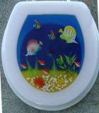 Polyresin erwachsener Toiletten-Sitz mit gedruckt